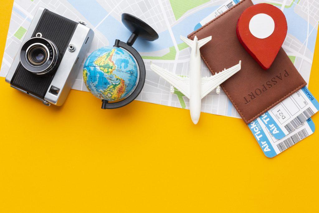 top-view-tourist-items-arrangement